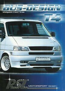 VW Bus T4 - Prospekt - RSL Motorsport / Tuning - mit Preisliste - 2002