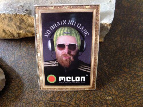 Melon Helmets bike sticker decal No Brain No Game ride MTB bicycle