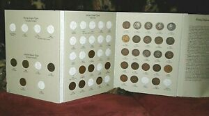 1859-1909-Indian-Head-Cent-34-Coin-Collection-in-Folder-Incl-Copper-Nickel
