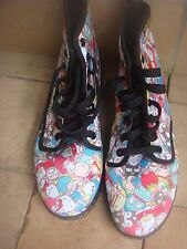 RARE Limited Edition Sanrio Hello Kitty Dr Martens DM's Docs Boots SIZE 6