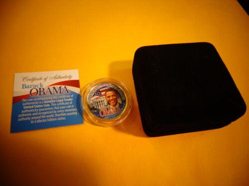Barack Obama INAUGURAL Presidential Dollar Signature Coin nice velvet gift box