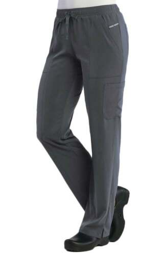 Maevn Pure Soft 7901 Ladies Relaxed-Fit Elastic Drawstring Cargo Pant Tall 33/""