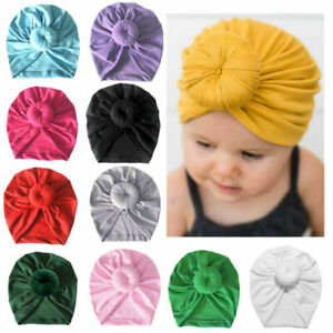 Newborn-Baby-Girl-Boy-Bow-Knot-Flower-Cute-India-Cap-Turban-Head-Wrap-Beanie-Hat