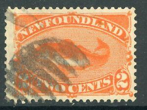 Canada-1887-Newfoundland-Orange-2-Scott-48-VFU-H239