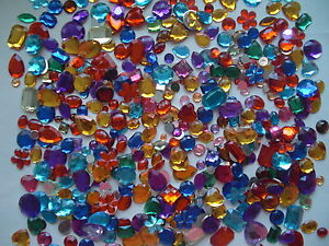 Mixed-acrylic-jewels-gemstones-mixed-shapes-colours-250-grams-approx-350-400