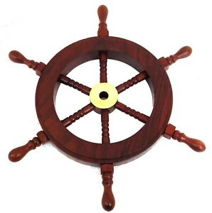 Nautical-Brass-Ship-Wheel-Wooden-Ship-Wheel-Solid-Wood-Nautical-Home-Decor