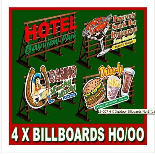 Set 4x cartel gigantografias h0 1:87 4x publicidad imágenes sin pintar Proses pls-007