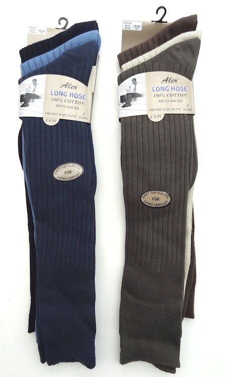 Tuyau Pour Homme Aler Long 100% Coton Mélangé Couleur Chaussettes-Taille 6-11 UK 6-11 Chaussettes-Taille 2218a4