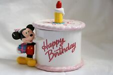 Disney Teleflora Mickey Mouse Ceramic Dish Birthday Cake