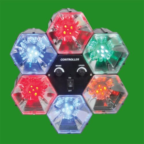 6 Way LED Sound Activated Chase Multi Coloured Christmas Disco Party Lights