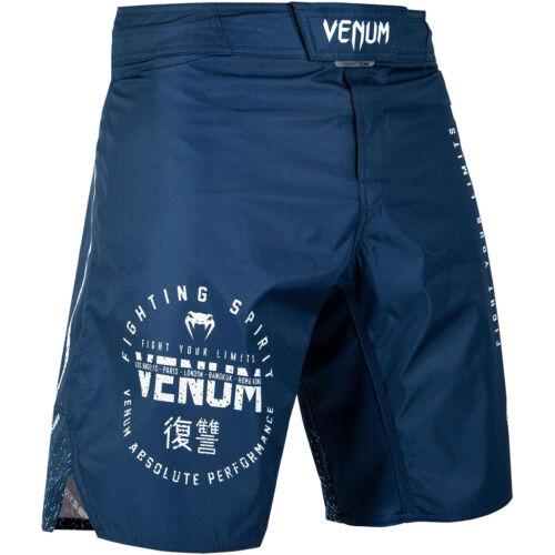 Venum Signature MMA Fight Shorts Navy Blue//White