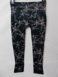 d63364ca60ca68 First Looks Women's Graphic Dragonfly Skimmer Seamless Leggings Size ...