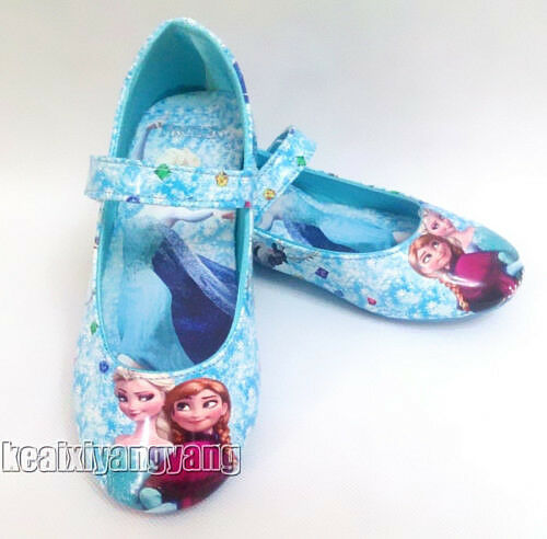 New Elsa Anna Princess Cosplay Girls Kids Shoes Size 7 8 9 10 11 12
