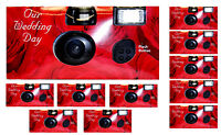 (lot Of 10) Disposable Cameras Wedding Camera One Time Single Use Redrose 2017