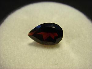 Garnet-Gemstone-Pear-Cut-8mm-x-5mm-1-10-carat-faceted-natural-Gem
