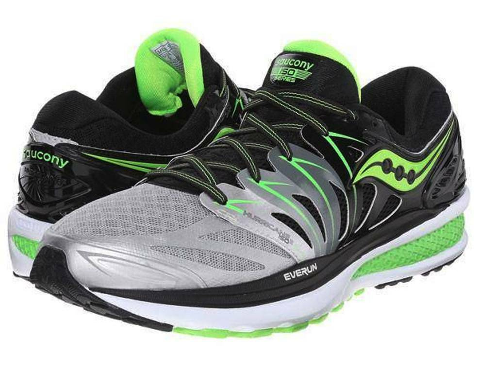 NEW Uomo SAUCONY HURRICANE ISO 2 RUNNING/TRAINING Scarpe - 11.5 / EUR 45 - GREY