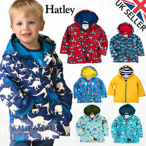 ee1c83af5d4e6 Details about HATLEY RAINCOAT BOYS COAT KIDS WATERPROOF JACKET SIZES 2Y-12Y  PVC FREE! NEW UK