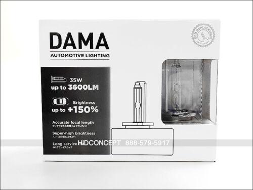 D5S 5000K DAMA Kanji Ultimate Vision 35W 150/% Pure White HID Xenon Bulbs SET