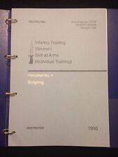 BRITISH ARMY SNIPER TRAINING & L96A1 PAMPHLET MANUAL SAS PARAS AIRSOFT