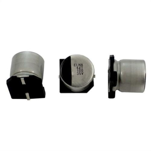 10x SMD Chimique Condensateur 100µF 35V 125°C ;RVT-35V101MH10ZTQ-R2 ;100uF