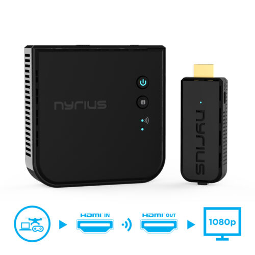 Nyrius Wireless Video HDMI Transmitter /& Receiver for Streaming 1080p HD 3D TV