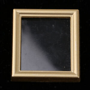 12th Dolls House Golden Rectangle Picture Frame Living Room DIY Decoration