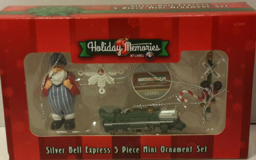 Lionel Christmas Ornament /'Silver Bell Express/' 5pc Set Item #922019