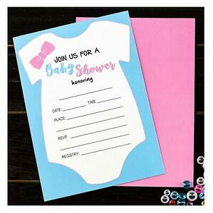 Details About 25 Baby Shower Invitations Gender Neutral Unisex For Boy Or Girl Baby Shower