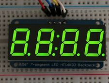 ADA1268 Green Adafruit 1.2 4-Digit 7-Segment Display w//I2C Backpack