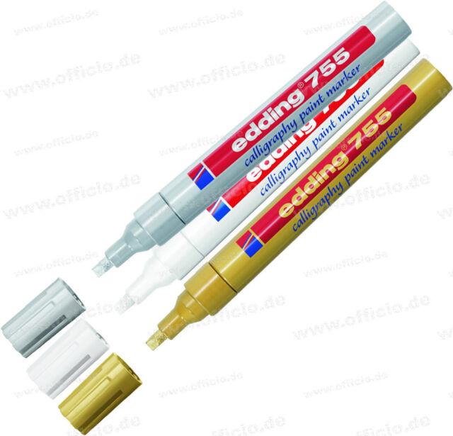 4004764936533 edding 755 Glanzlack-Marker Calligrafie creative 1 4 mm weiß