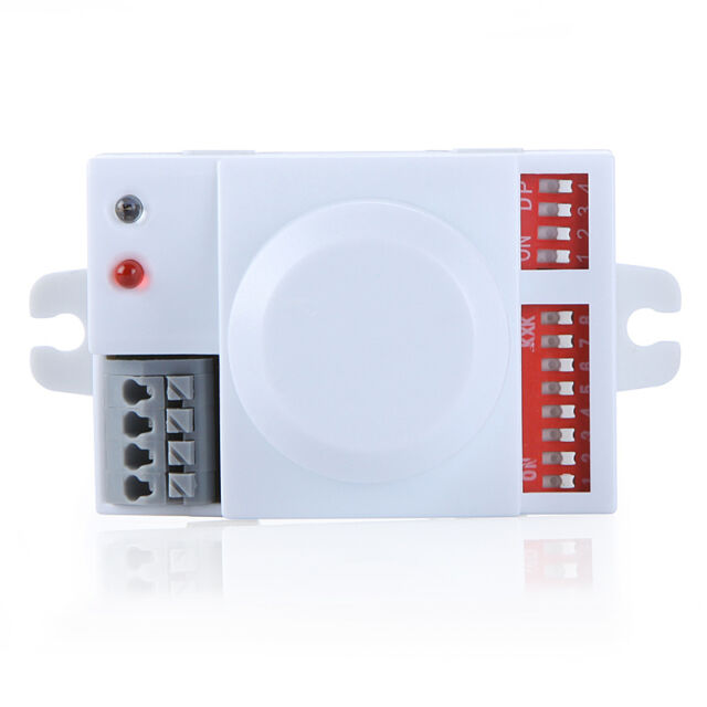 Intelligent Microwave Motion Sensor Detector Switch Time Delay Energy Saving