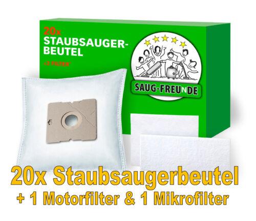 2 Filter für SEVERIN BC 7046 SAUG-FREUnDE 20 Staubsaugerbeutel