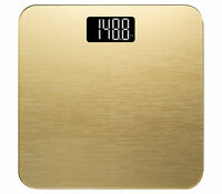 Smart Weigh Sleek Digital Bathroom Body Weight Scale Tempered Glass 400lb Gold on sale