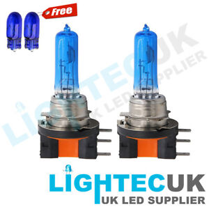 2x-H15-6000K-DRL-HIGH-BEAM-BULBS-AUDI-FORD-SEAT-VW-XENON-WHITE-CANBUS-SIDELIGHTS
