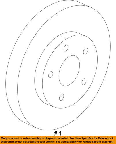 GM OEM Front Brake-Disc Rotor 23118530