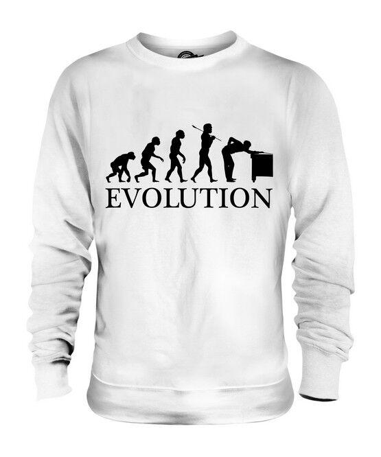 SNOOKER PLAYER EVOLUTION OF MAN UNISEX SWEATER  Herren Damenschuhe LADIES GIFT CUE BALLS