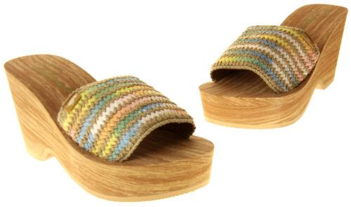 Womens Ladies Rocket Dog Wedge Weave Platform Shoes Design Sandals 3 4 5 6 7 8