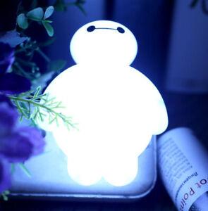 1x BayMax Sensor LED Night Light Bulb Energy Saving Cute Lamp Home Kids Gift