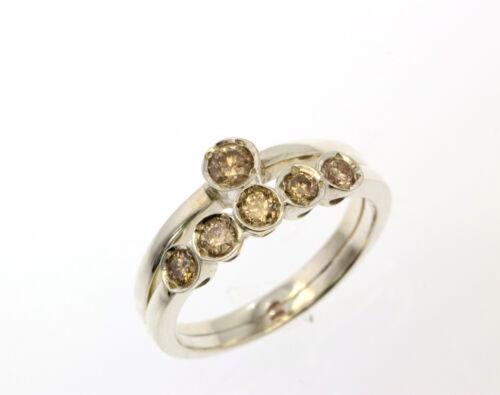 0.51 ct Naturel Certifié Diamant Mariage Bande Bague Antique Collection