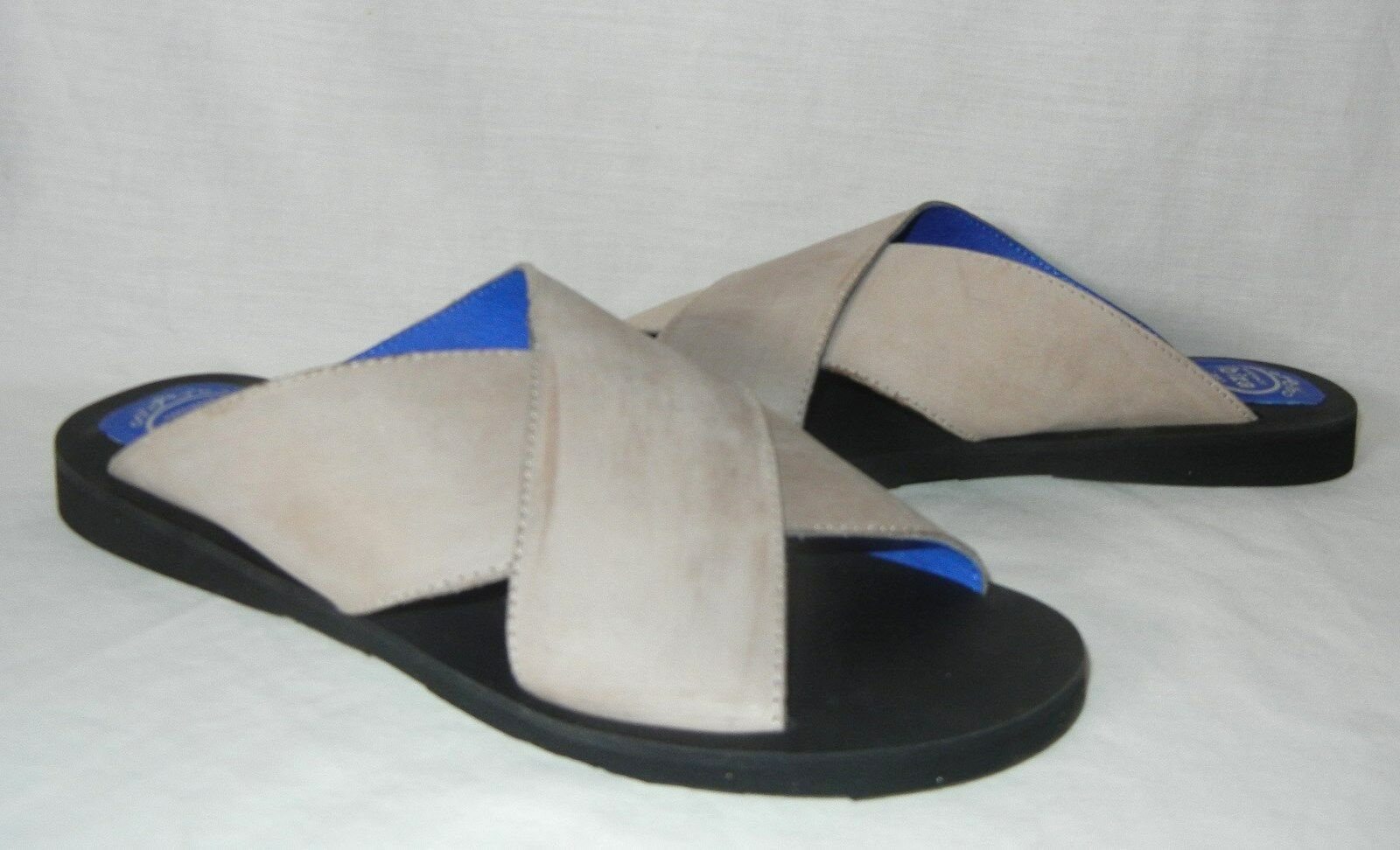 Jeffrey Campbell Donna Donna Donna  Caprese Tan Leather Sandal Flats Retail  118 Dimensione 9 3ed579