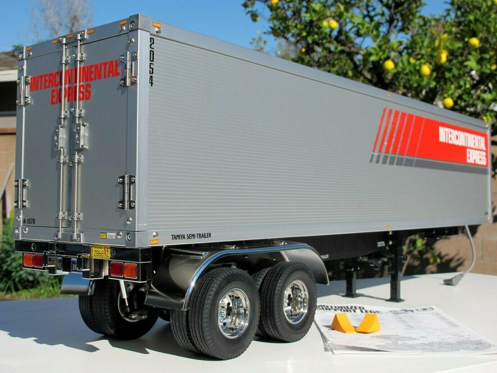 nuova esclusiva di fascia alta Tamiya R C 1 14 Semi Trailer Trailer Trailer Tractor Container +Motorize Support Leg + Light Kit  punto vendita
