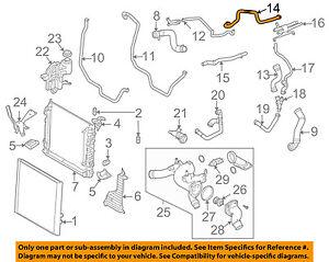 land rover oem 06-09 range rover 4.4l-v8 radiator-heater hose 4680301 | ebay  ebay