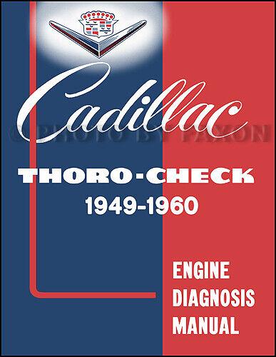 Cadillac Motore Diagnosi Manuale 1949-1960 Serie 60 61 62 75 Deville Eldorado