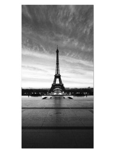 EG4100502095 EIFELTURM PARIS S//W STÄDTE Wandbilder XL 50 x 100 cm HD GlasBild