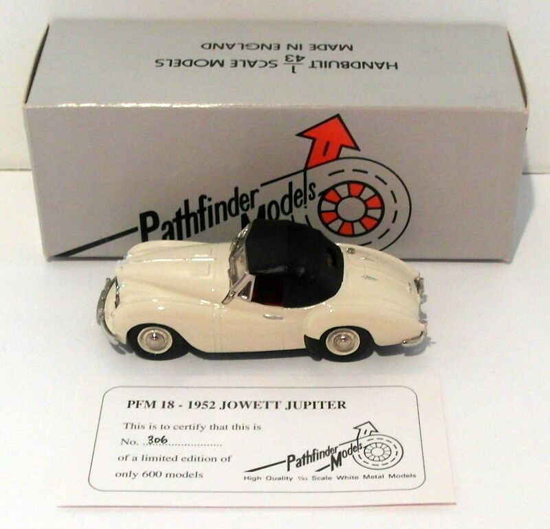 Pathfinder Models 1 43 Scale pfm18 - 1952 Jowett Jupiter 1 of 600 Cream