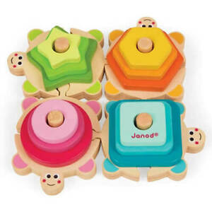 Janod-I-Wood-Stackable-Turtles