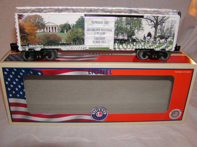 Lionel 6-84672 Memorial Day Box Car O 027 2018 New MIB Made in U.S.A.
