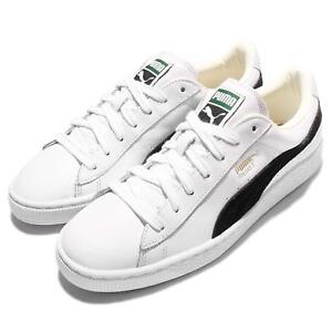 puma basket classic white black mens casual shoes sneakers