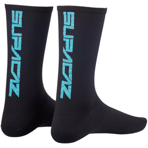 SUPACAZ Socken Supasox STRAIGHT UP SL BLING Gr 43-47 schwarz blau Fahrrad