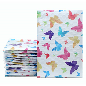 Download 50pc Colorful Butterfly Designer Poly Bubble Mailers ...